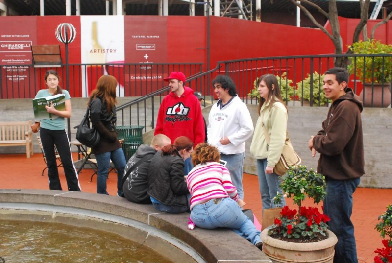 File:SF Fans at Fountain.jpg